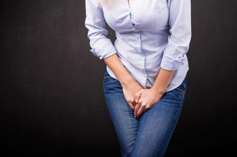 Frau Mit Harndrang, Inkontinenz