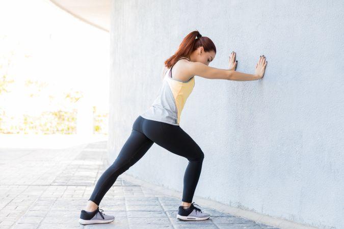 Beckenbodenübung 2: Wand umwerfen